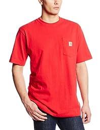 Carhartt Men\'s Workwear Pocket Short Sleeve T-Shirt Original Fit K87,Red,X-Large