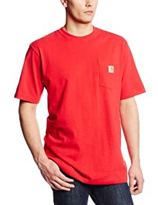 Carhartt Men's Workwear Pocket Short Sleeve T-Shirt, Red, X-Large