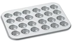 Cuisinart AMB-24MMP Chefs Classic Nonstick Bakeware 24-Cup Mini Muffin Pan Silv