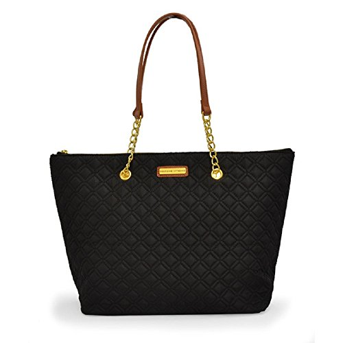 ladies-designer-black-large-lightweight-nylon-tote-handbag-shopper-shoulder-bag