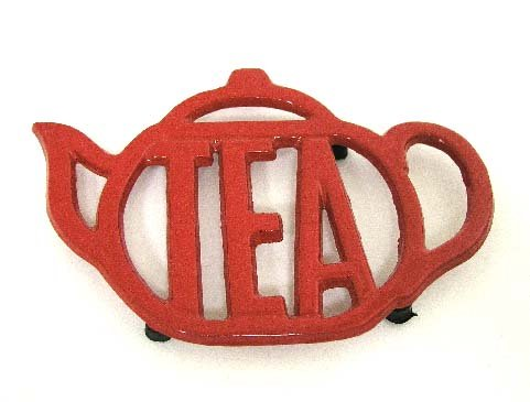 Purchase Red Teapot Shaped Cast Iron Trivet