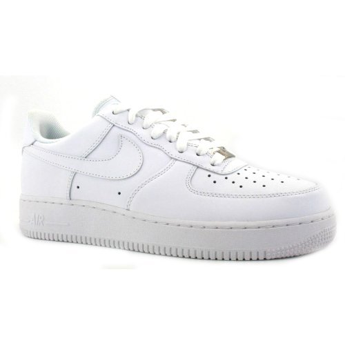 Nike Airforce 1 Leather Mens Trainers White/ White 9 UK