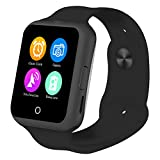Pard Stylish Bluetooth Camera SmartWatch, With Heart Rate monitor / Noise Reduction / Sleep monitor / Pedometor / Automatic Wake-up Functions for Samsung Android Smartphones, Black