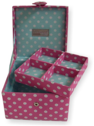 Boutique Isabelle Pink Polka Dot Jewellery Box