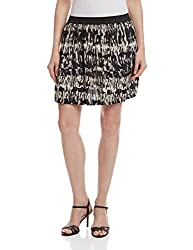 Anaphora Women's Pleated Skirt (57642_Abstract Print_S)