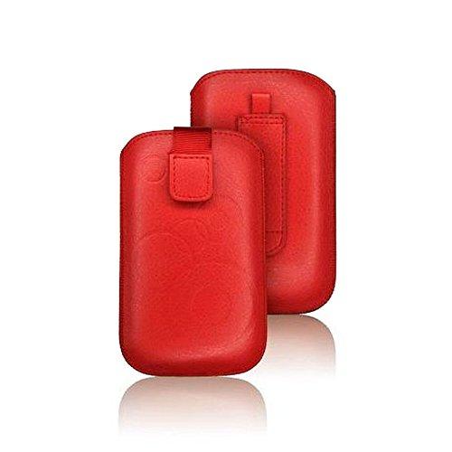 tag-24 Schutzhülle Slider Deko Etui Handytasche Cover passend für Sony Xperia Pro /mk16i Farbe rot