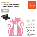 Marianne Design Collectables Cutting Die & Clear Stamps - French Cats COL1344