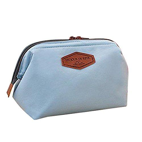 Gearmax® Multifunzione sacchetto di trucco della cassa di matita Cosmetic del sacchetto della borsa di tela(Blu marino)