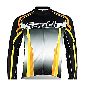 NEW-Santic - Mens Cycling Jacket with 100% Polyster Winter 2011 Black Color , XXL by ELCE Stock