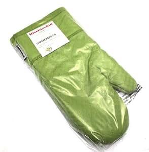 Kitchenaid green apple cotton oven mitt with silicone print grips home kitchen - Kitchenaid oven gloves ...