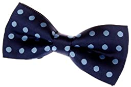 Retreez Classic Polka Dots Woven Microfiber Pre-tied Bow Tie (4.5\