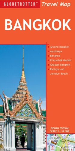 Bangkok Travel Map, 8th (Globetrotter Travel Map)
