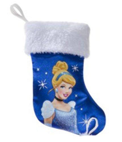 "8"" Blue Mini Holiday Princess Stocking - Cinderella - 1"