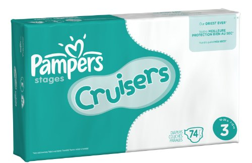 Pampers Cruisers Diapers eBulk Case -- size: 3