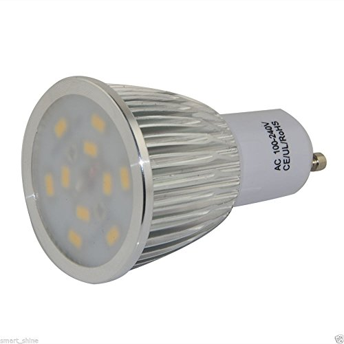 How Nice 8W Gu10 Smds Led Bulbs Day White Light Soft Lamp Spotlight Frosted Glass -Pack Of 4