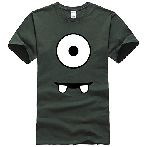 Write a Bestshirt men's Minion T shirt Small forest green print burn [parallel import goods]
