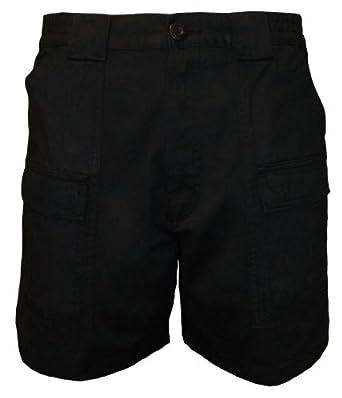 Talos Men's Cotton Cargo Short Black 32