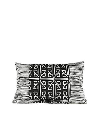 Jacque Pierro Kofi Large Pillow, White/Black