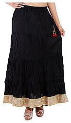 Magnus Women's Long Skirt (SKT463, Black , L)