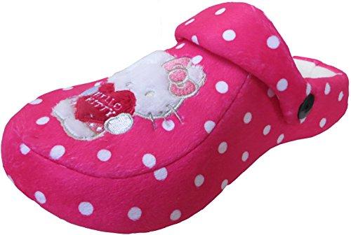 Ragazza di Hello Kitty, colore: rosa, licenza ufficiale Pantofole zoccoli, Rosa (rosa), 30 EU