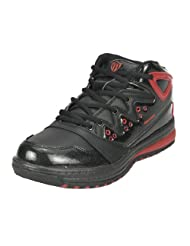 Marco Ferro Men's Black Red Synthetic Basketball Shoes (MARCO FERRO 0010-JORDAN XXX BLACK RED )