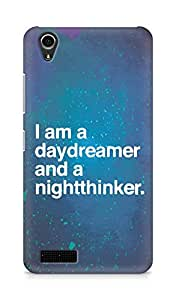 AMEZ daydreamer and night thinker Back Cover For Lenovo A3900