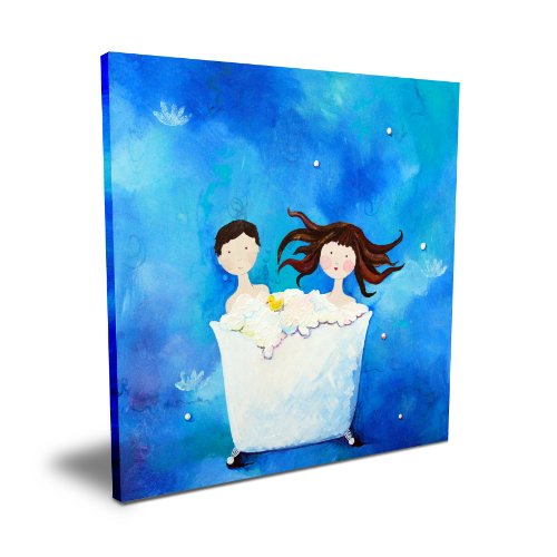 "Cici Art Factory Two in a Tub (Brunette), 16""x 16"""
