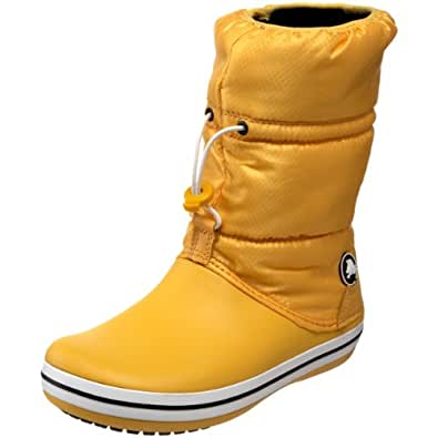 Crocs Women's Crocband Winter Boot,Canary/Canary,6 M US
