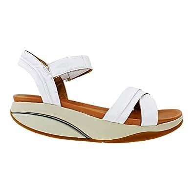 Amazon.com: Women's MBT Women's Haifa White Leather 42 Medium: Shoes