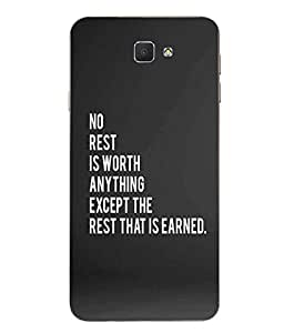 Case Cover Body Building Printed Grey Soft Back Cover For SAMSUNG Galaxy J7 Prime
