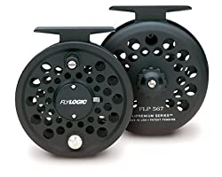 Fly Logic Premium Series Fly Fishing Reel FLP567/C 5 - 6 - 7 Line Weight Aluminum Disc Drag Flyreel | Charcoal Color Made In USA