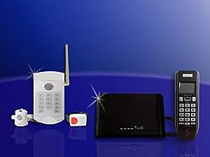 gw 05 mit lcd telefon u senioren funk notruf system elektronik. Black Bedroom Furniture Sets. Home Design Ideas