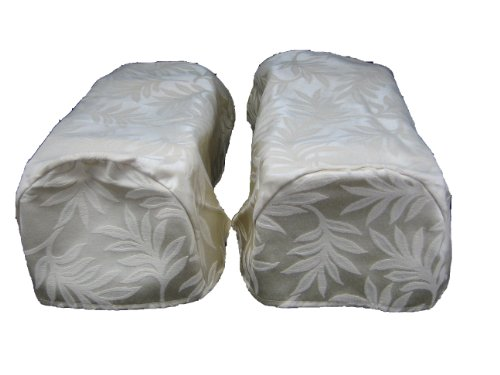 2 x DECORATIVE CHAIR SETTEE ARM CAP COVERS IVORY PAIR