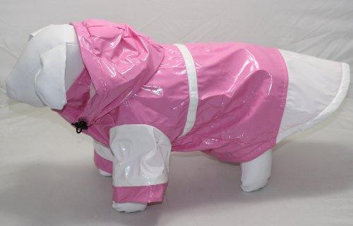 New! Pink Hooded Dog Rain Coat- 12