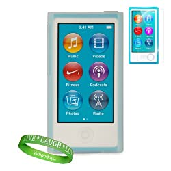 Dreamwireless Clear Ipod Case + Ipod Nano 7 Screen Protector + Vangoddy Brand Wrist Band