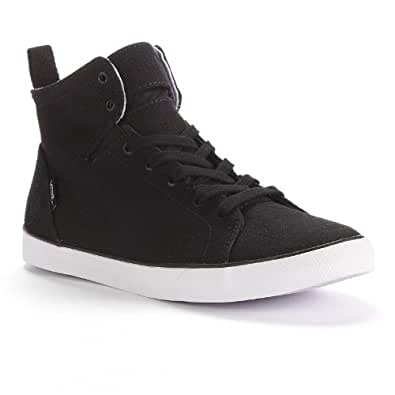Vans Black Sydney Mid-Top Skate Shoes - Women | Amazon.com