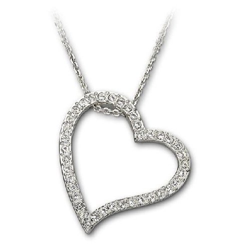 Swarovski Crystal Open Heart Love Pendant 661034