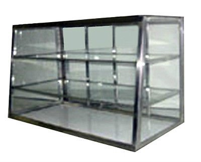 Carib Countertop Dry Bakery Display Case - Tapered Glass Showcase with Shelf 3T (Display Case Countertop compare prices)