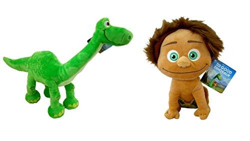Il Viaggio di Arlo (The Good Dinosaur) - Pack de 2 peluches del film. Arlo e Spot (25-30 cm) - Qualità velboa