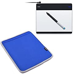 Case Star Blue Color Neoprene Wacom Graphics Tablet Sleeve Carrying Case Protective Cover for Wacom Intuos Pen and Touch Small Tablet CTH480 and Tablet CTL480