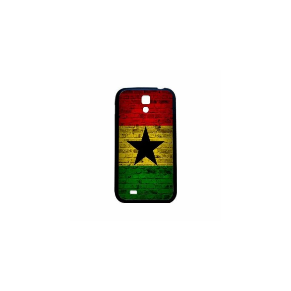 Ghana Brick Wall Flag Samsung Galaxy S4 Black Silcone Case   Provides Great Protection