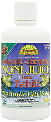 Organic Tahitian Noni Juice (Raspberry Flavour) 946ml Pack of 4 from PerfectS