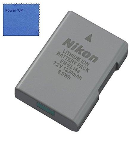 Nikon EN-EL14a Batteria al Lithium-Io per Nikon Df, D3100, D3200, D3300, D5100, D5200, D5300, D5500 Fotocamera Reflex COOLPIX P7000, P7100, P7700, P7800 Fotocamera Digitale (Sfuso Imballaggio)