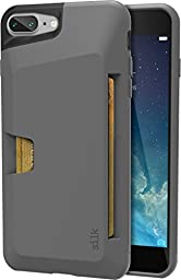 Silk iPhone 7 Plus Wallet Case - Vault Slim Wallet for iPhone 7+ [Ultra Slim Grip Card Case] - Gunmetal Gray