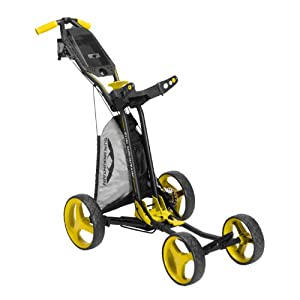 NEW SUN MOUNTAIN MICRO CART GOLF PUSH CART - BLACK YELLOW by Sun Mountain