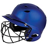 Diamond Sports Batter's Helmet with Royal Matte Finish Face Mask (Royal) by Diamond Sports