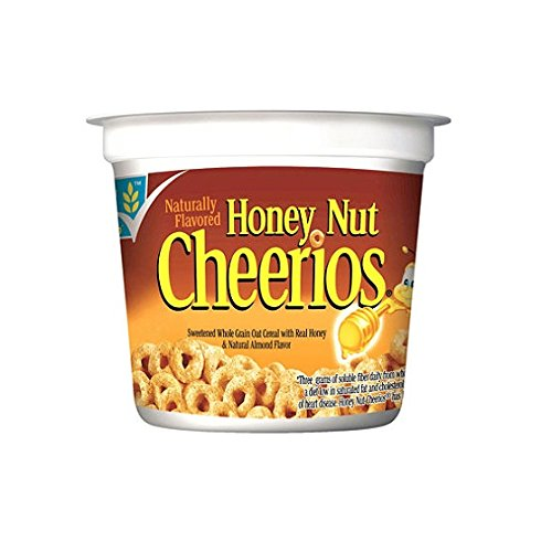 General Mills Honey Nut Cheerios Cereal in a Cup - 2 oz. Cup - 12 ct (SGS89)
