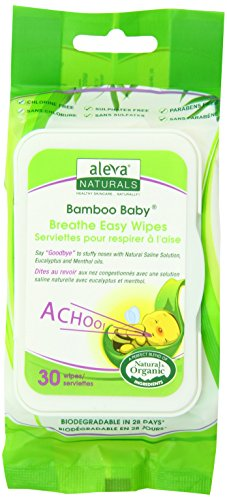 Aleva Naturals Bamboo Baby Breathe Easy Wipes, 180 Count (Pack of 2) - 1