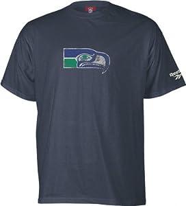 Seattle Seahawks -Blue- Soda Rubber Gridiron Classics Logo T-Shirt - XX-Large