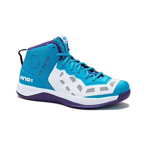 AND1 Mens Fantom Basketball Shoe 15 Capri-Breeze/Purple